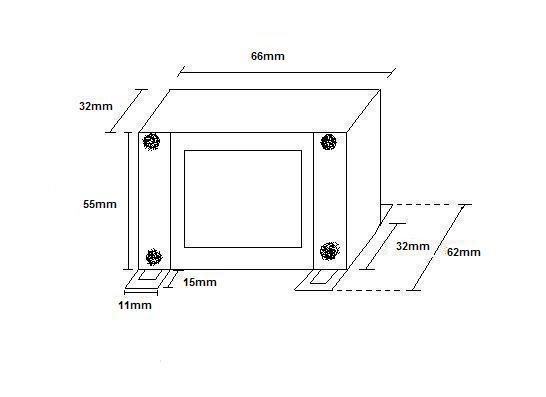 Transformador AC 9 + 9 V  45 VA
