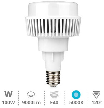 Lampada LED Industrial 220V E40 100W Branco F. 5000K 9000Lm - GSC