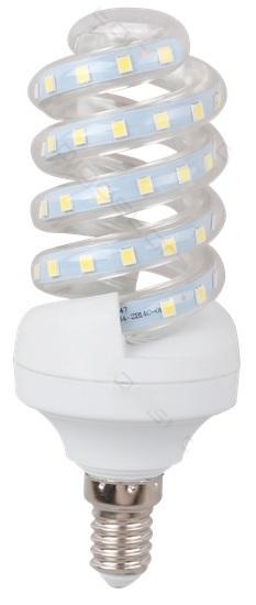 Lampada LED Espiral 220V E14 B5 5W Branco F. 6000K 360º 490Lm
