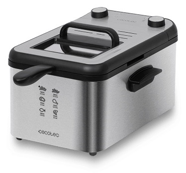 Fritadeira CleanFry Infinity 3000 Full Inox 3L 2400W - CECOTEC