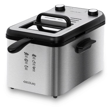 Fritadeira CleanFry Infinity 4000 Full Inox 4L 3270W - CECOTEC