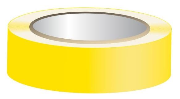 Fita Isoladora Amarela 10 mts
