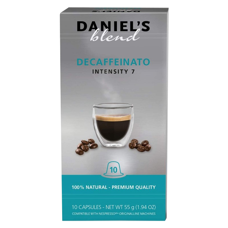 Pack 10x Cápsulas Café DECAFFEINATO c/ Máquinas Nespresso - Daniel's Blend