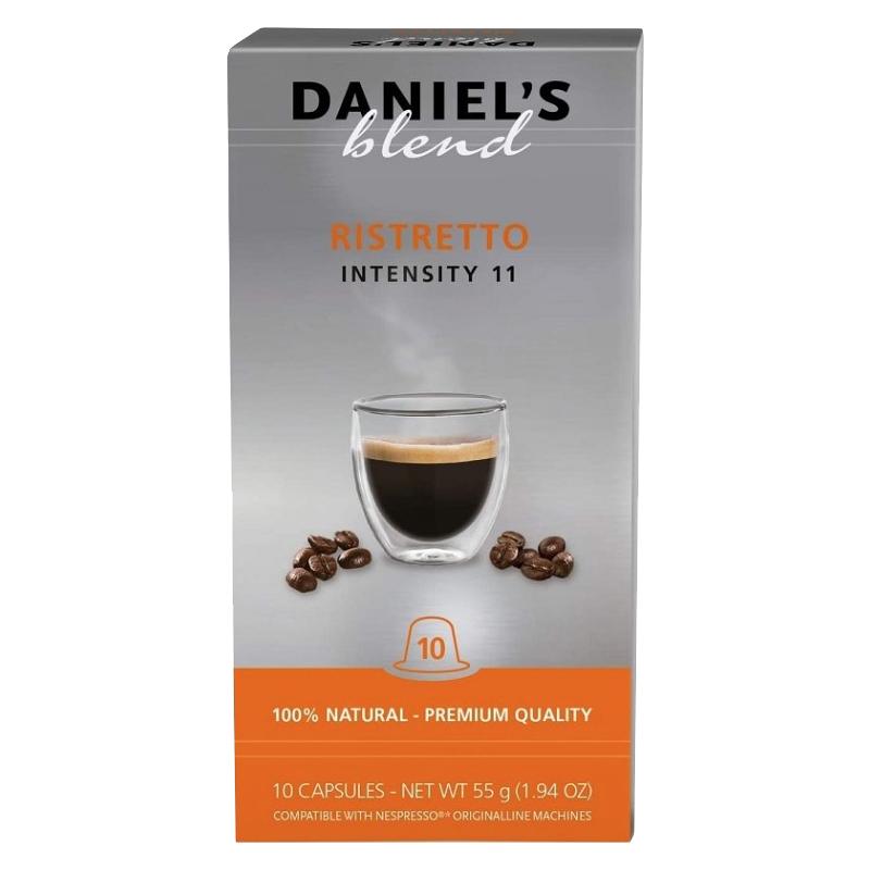 Pack 10x Cápsulas Café RISTRETTO c/ Máquinas Nespresso - Daniel's Blend