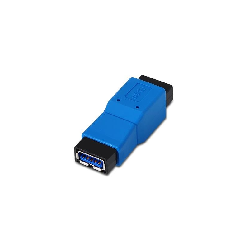 Adaptador União USB A 3.0 Fêmea - USB A 3.0 Fêmea (Azul) - Nanocable