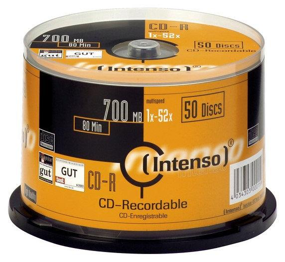 Pack 50x CD-R 700MB - INTENSO
