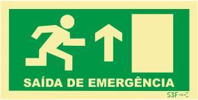 Saída de Emergência - Fotoluminescente (200mmx100mm)
