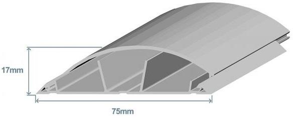 Calha de Chão 75x17mm Cinzenta (2 mts) - EFAPEL