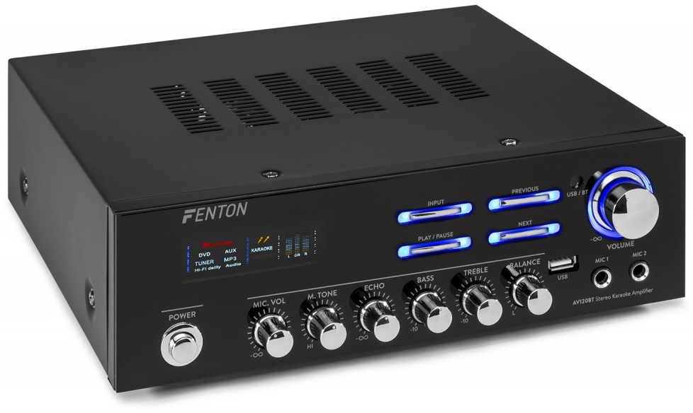 Amplificador de Karaoke (USB/MP3/BLUETOOTH) 2x 60W - FENTON
