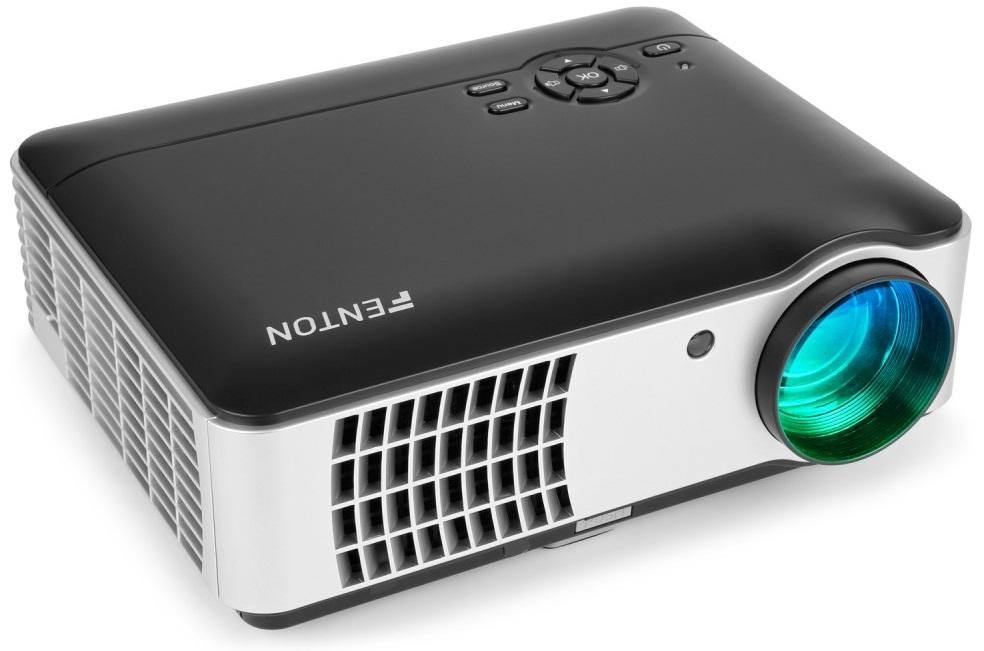 Video Projector LED 1080p HD (AV/ USB/ SD/ HDMI) 2800 Lumens - FENTON