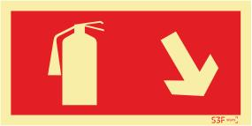 Sinal Segurança Contra Incêndio - Fotoluminescente (200mmx100mm)