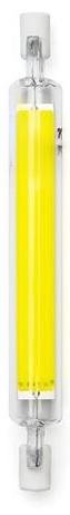 Lampada LED R7S 118mm 7W Branco Frio 6000K 800Lm - Vidro