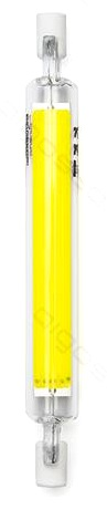 Lampada LED R7S 118mm 8W Branco Frio 6000K 1055Lm - Vidro