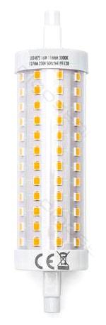 Lampada LED R7S 118mm 16W Branco Quente 3000K 2100Lm