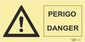 Sinais de Perigo - Fotoluminescente (200mmx100mm)