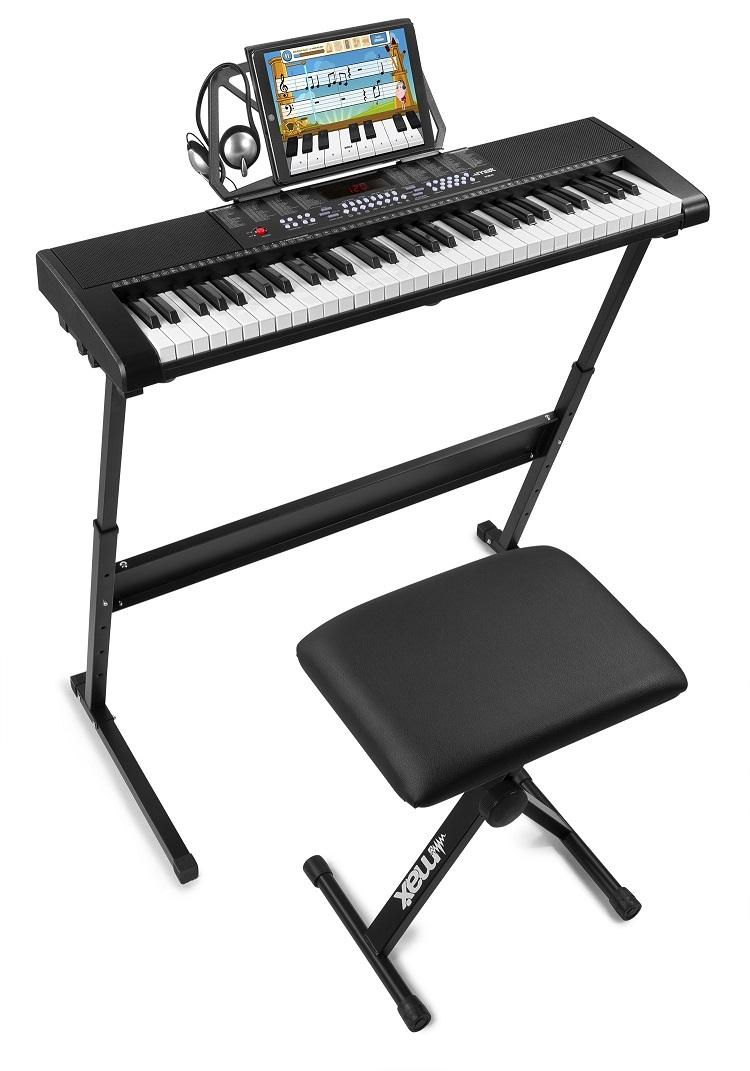 Kit Piano Eletrónico KB4SET 61 Teclas + Acessórios - MAX