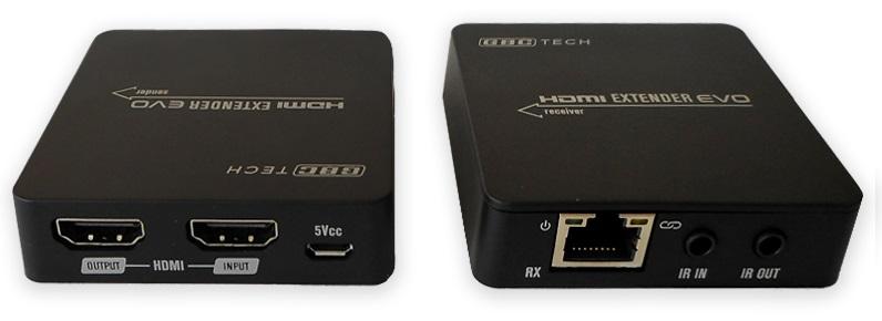Extensor HDMI via UTP RJ45 até 55 mts PoC (CAT 5E/6) c/ Repetidor Controlo Remoto IR - ProFTC