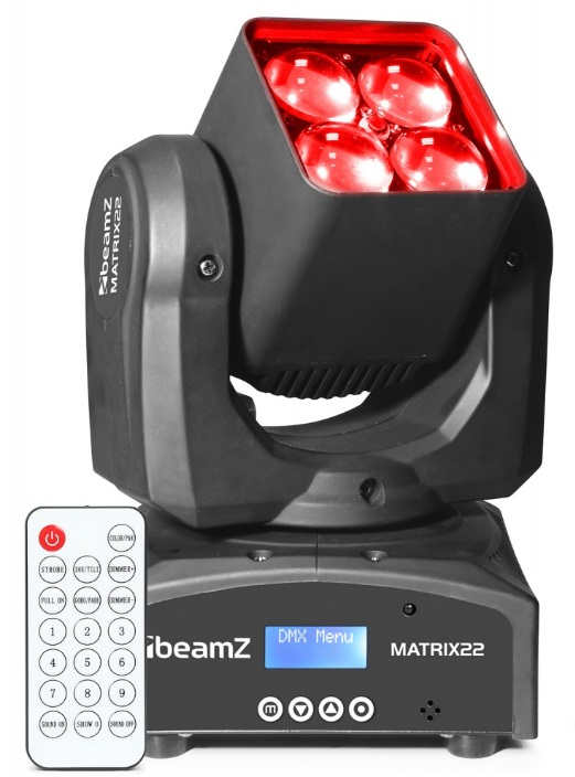Moving Head LED com Zoom (MATRIX 22Z) - BeamZ