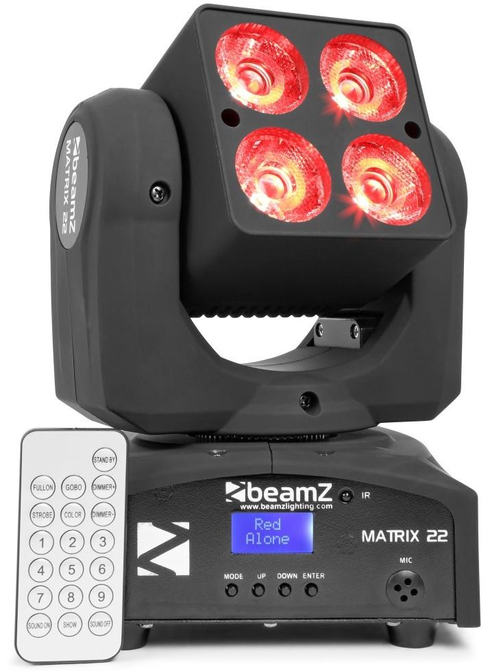 Moving Head QUAD LED 4x 10W RGBW DMX (Matrix22) - beamZ