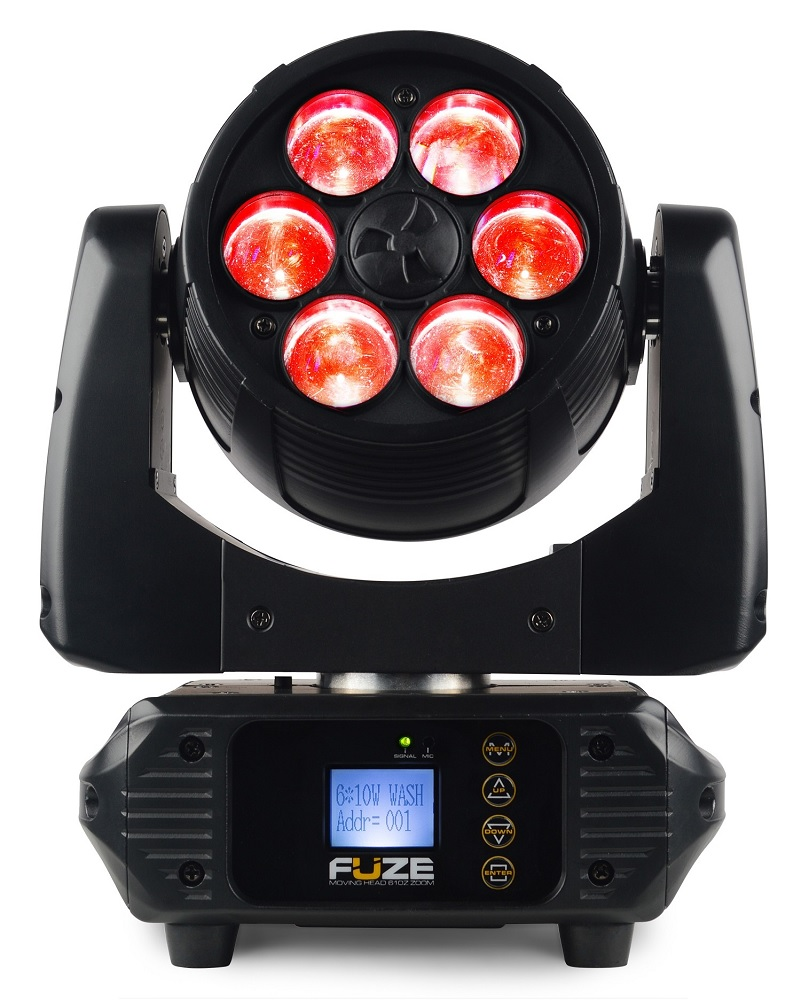 Moving Head LED 6x 10W DMX RGBW c/ Zoom (FUZE610Z) - beamZ