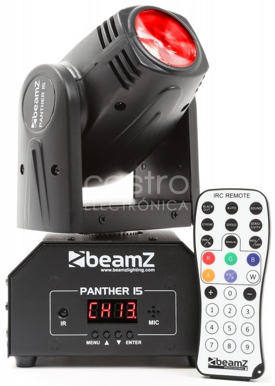 Moving Head CREE LED 10W RGBW DMX (PANTHER 15) - beamZ
