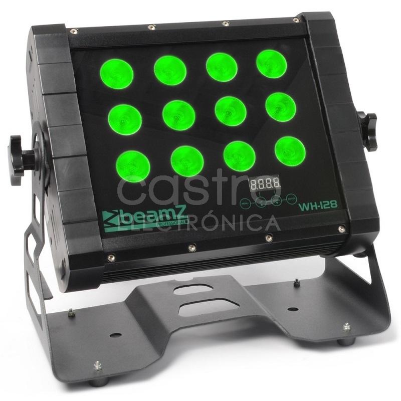 Projector Profissional LED Wash 12 Quad 8W DMX IP65 (WH128) - beamZ