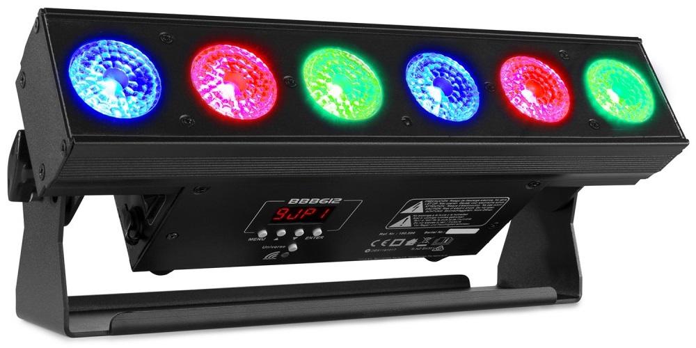 Barra LEDs 6-EM-1 6x 12W RGBAW+UV DMX c/ Bateria (BBB612) - beamZ