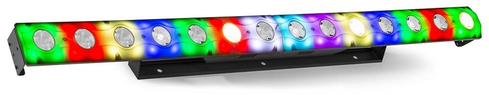 Barra de LEDs Híbrida 14x 3W Branco Q. + RGB DMX (LCB14) - beamZ