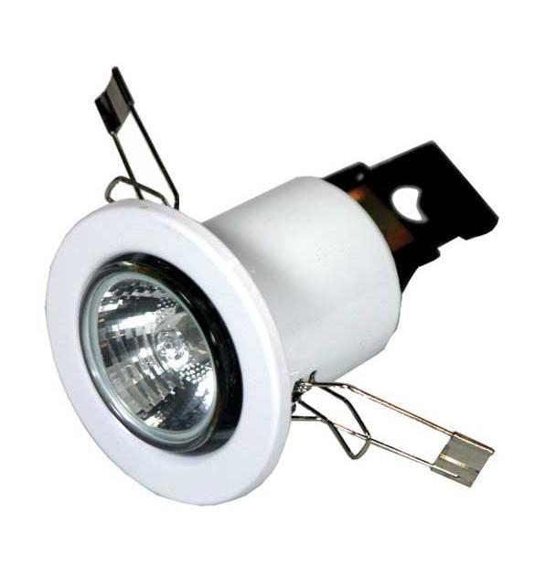 Suporte de Lampada Fixo GU10 c/ Lampada Halogéneo 50W