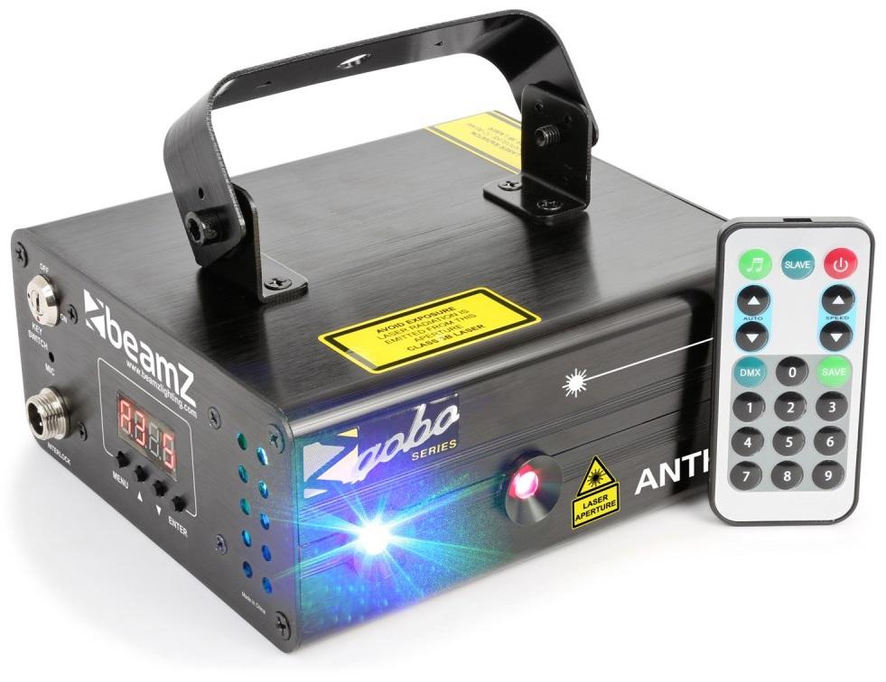 Laser RGB Vermelho/Verde/Azul 250/100/250mW c/ Comando (ANTHE II) - beamZ