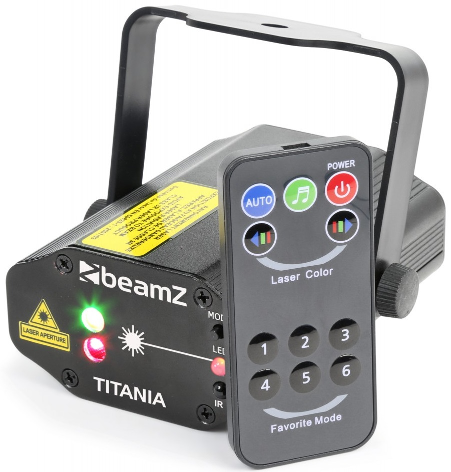 Laser Vermelho/Verde 150/50mW c/ Comando (TITANIA) - beamZ