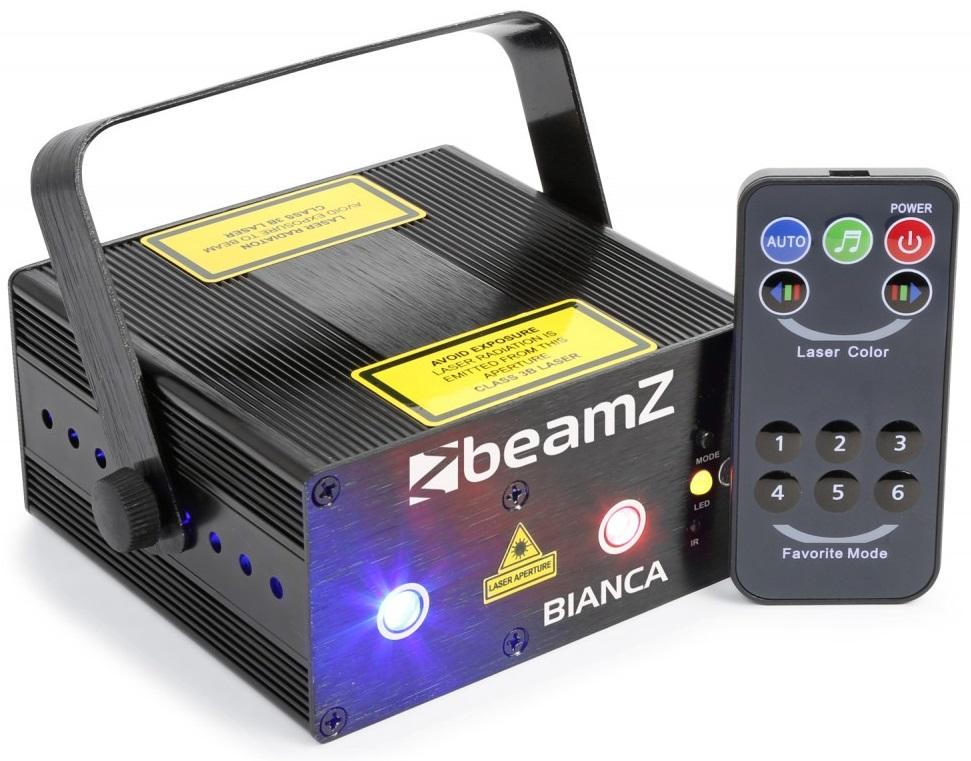 Laser Duplo Vermelho/Verde/Azul 150/30/150mW c/ Comando (BIANCA) - beamZ