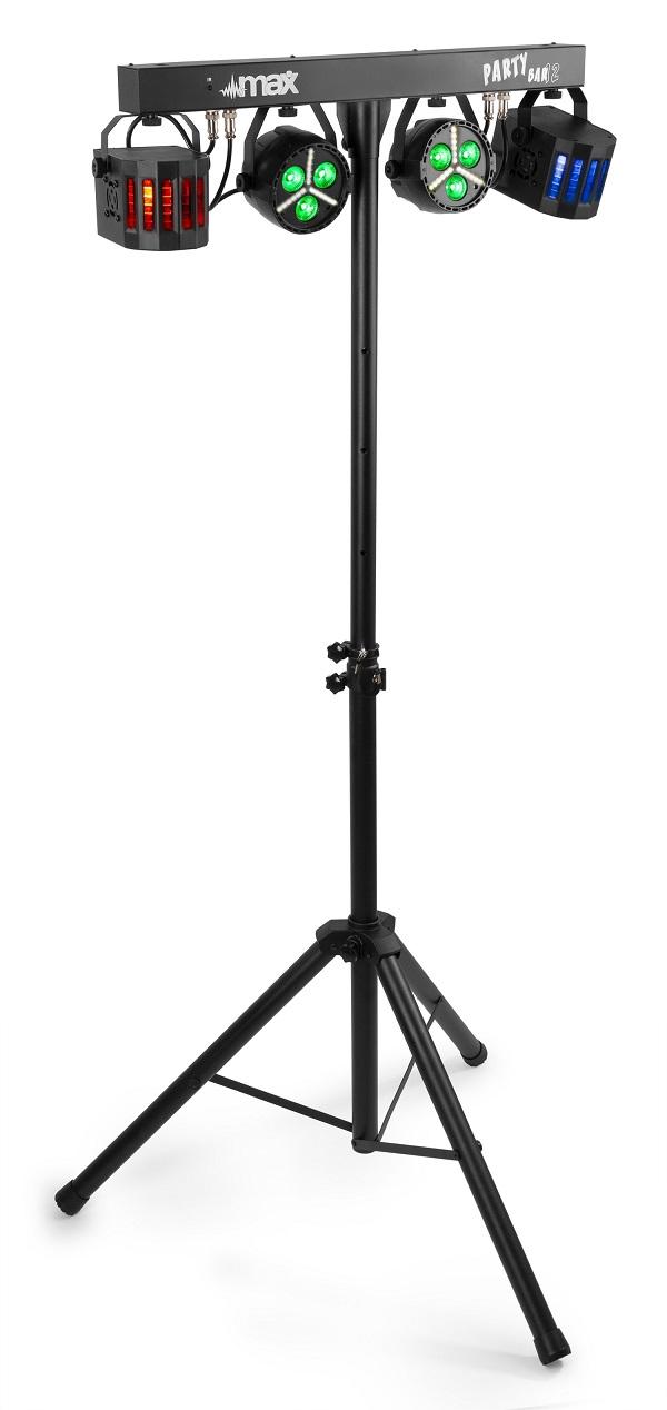 Barra LED´s Portátil DMX c/ 2 Projetores PAR Strobe + 2 Projectores Derby RGBW - MAX