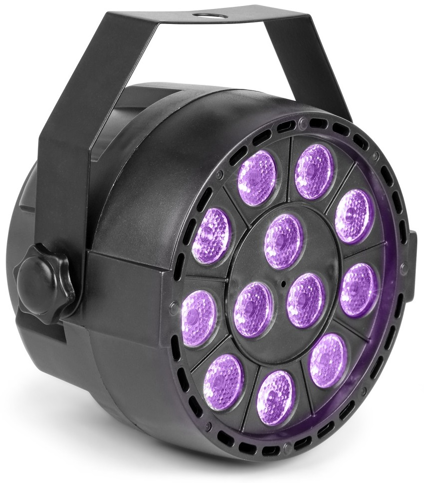 Projector 12 LEDs x 1W Luz Negra UV DMX (12W) - MAX