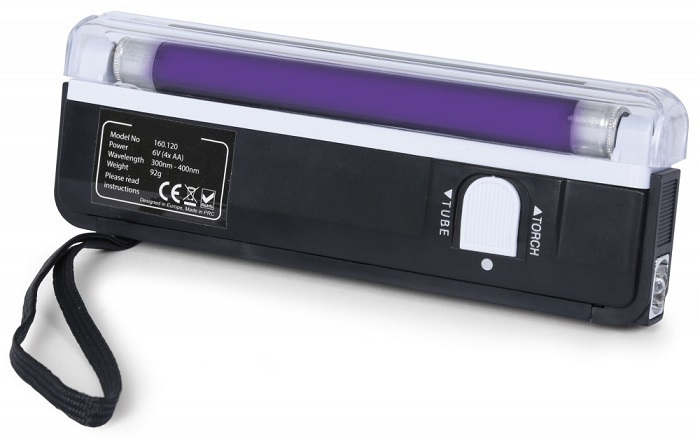 Lampada UV Luz Negra T5 4W 6 c/ Pega (Detector Notas) - beamZ
