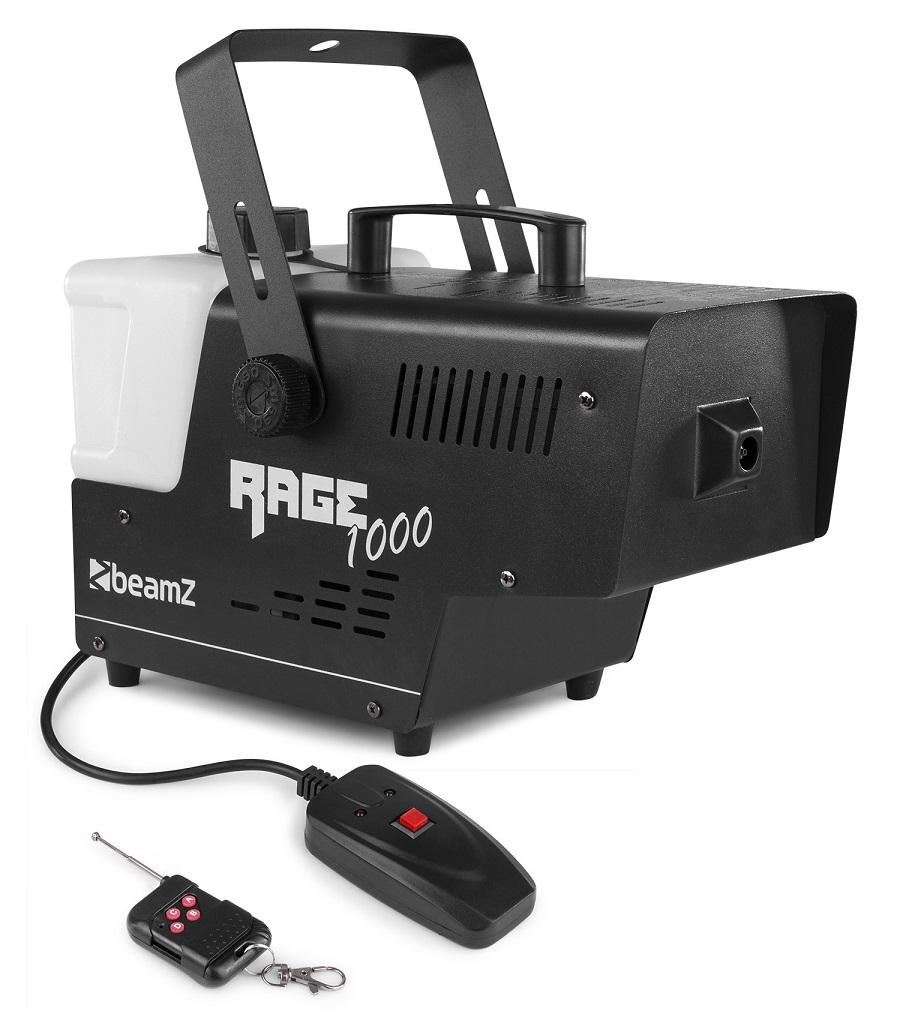 Máquina de Fumo 1000W c/ Comando sem Fios (RAGE 1000) - BEAMZ