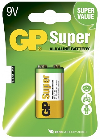 Pilha Alcalina 6LR61 9V - GP