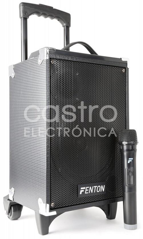 Coluna Amp. Portátil 8 130W c/ Leitor MP3/USB/SD/BLUETOOTH + Microfone s/ Fios (ST050) - FENTON