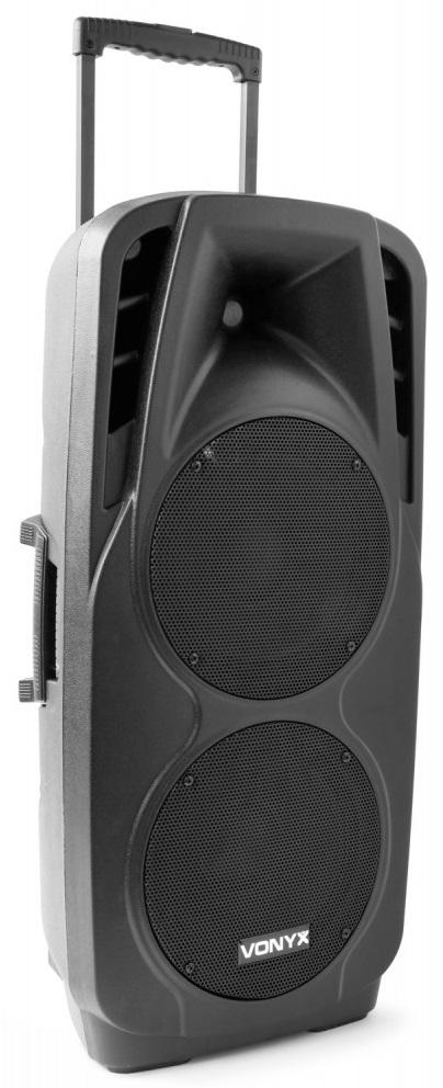 Coluna Amplificada Portátil ABS 2x 10 1000W MP3/USB/SD/2xUHF/BLUETOOTH (SPX-PA9210) - VONYX