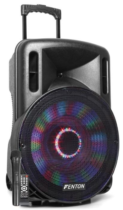 Coluna Amplificada Portátil LED 15 800W BLUETOOTH/USB/SD/MMC/UHF (FT15LED) - FENTON