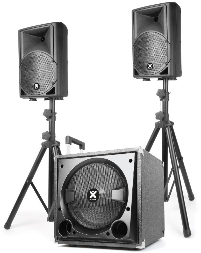 Sistema Som Bi-Amplificado BLUETOOTH/USB/SD/MP3 800W (VX800BT 2.1) - VONYX