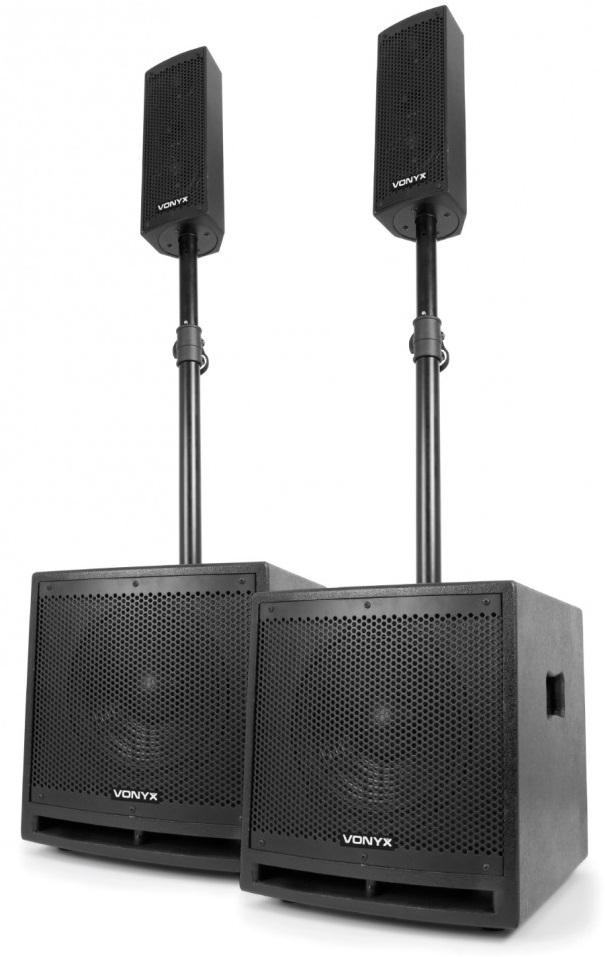 Sistema Som Amplificado BLUETOOTH/USB/SD/MP3 1000W (VX1000BT 2.2) - VONYX