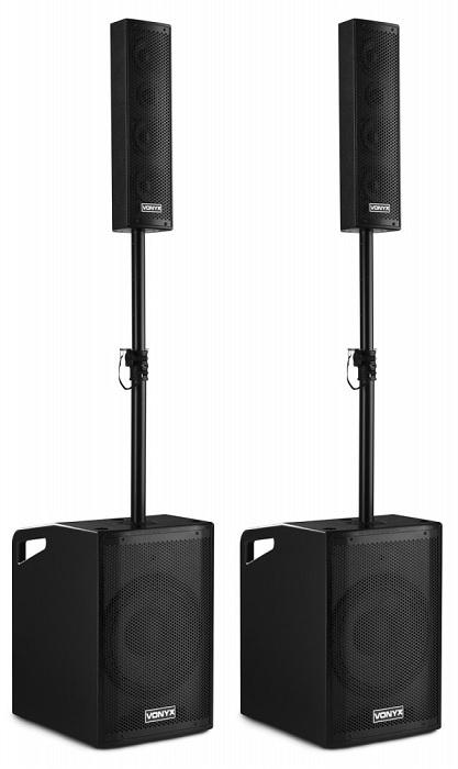 Sistema Som Amplificado BLUETOOTH/USB/SD/MP3 1150W (VX1050BT 2.2) - VONYX