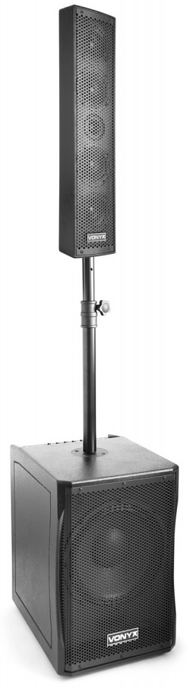 Sistema Som Amplificado Full Range 750W (VX1200) - VONYX