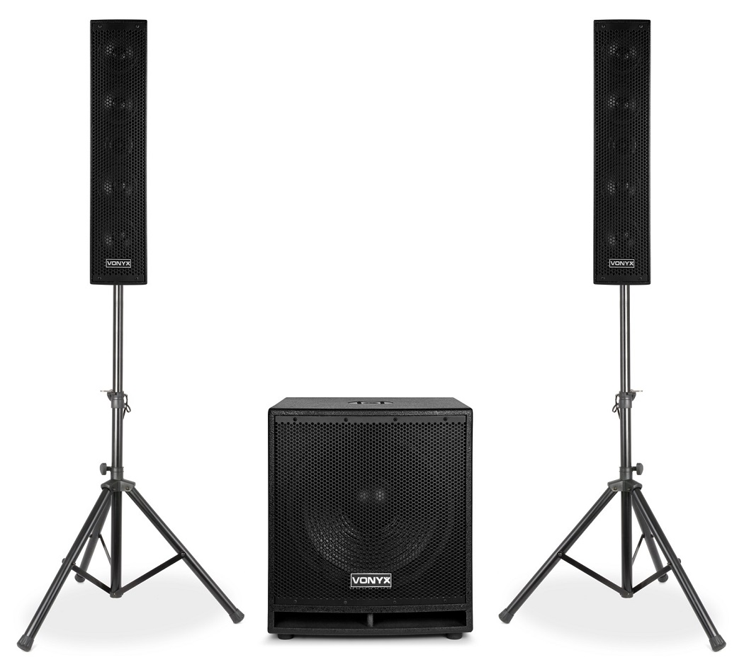 Sistema Som Bi-Amplificado BLUETOOTH/USB/SD/MP3 1000W (VX880BT 2.1) - VONYX