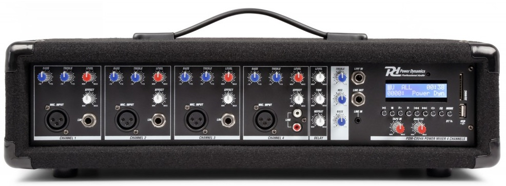 Mesa de Mistura Amplificada 4 Canais 800W c/ USB/MP3/AUX/BLUETOOTH (PDM-C405A) - Power Dynamics