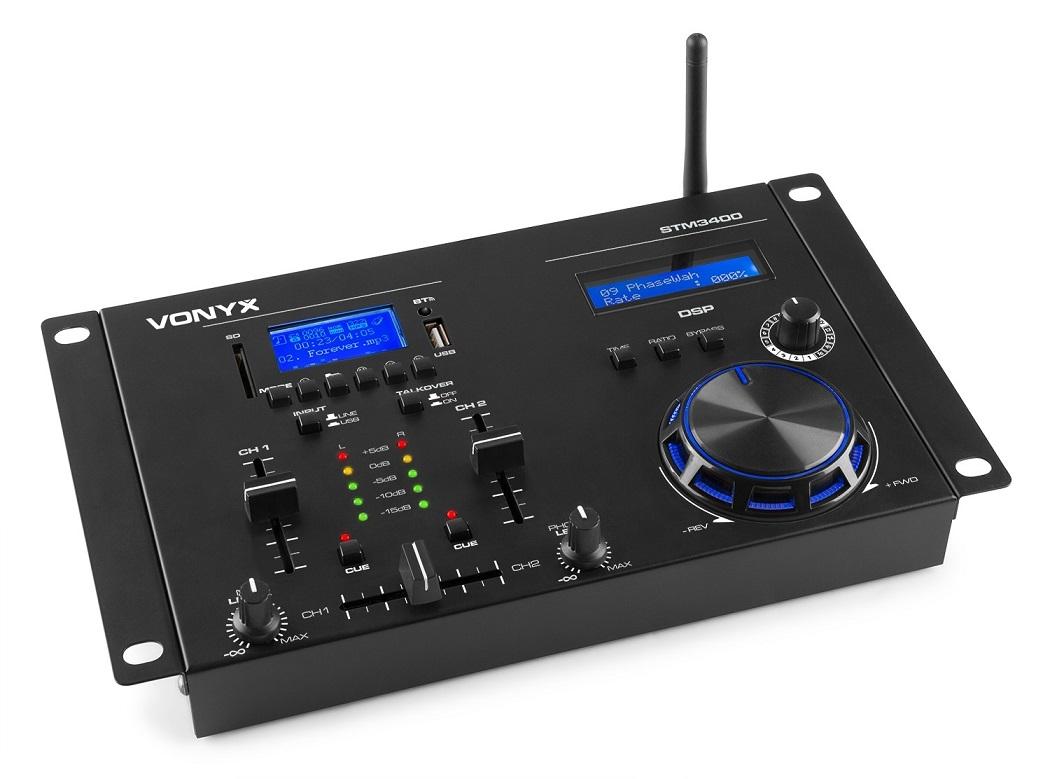 Mesa de Mistura (Mixer) de 2 Canais STM3400 c/ Bluetooth - VONYX