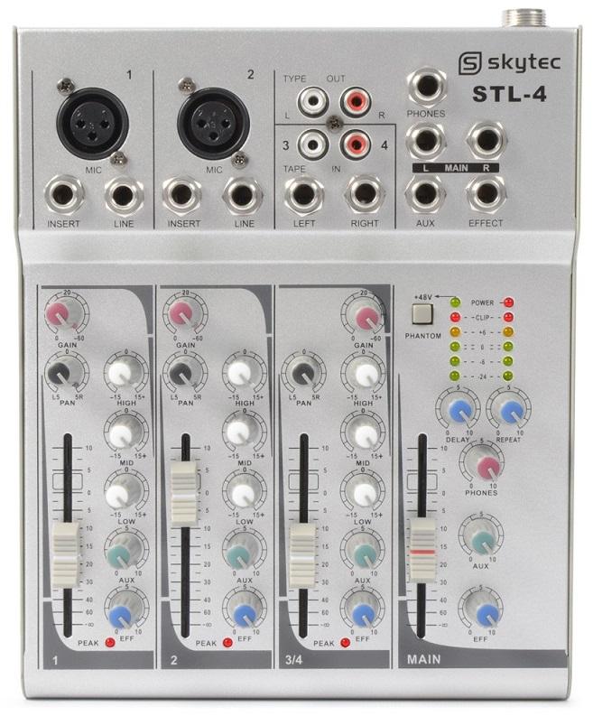 Mesa de Mistura 4 Canais EQ / ECHO (STL-4) - Skytec