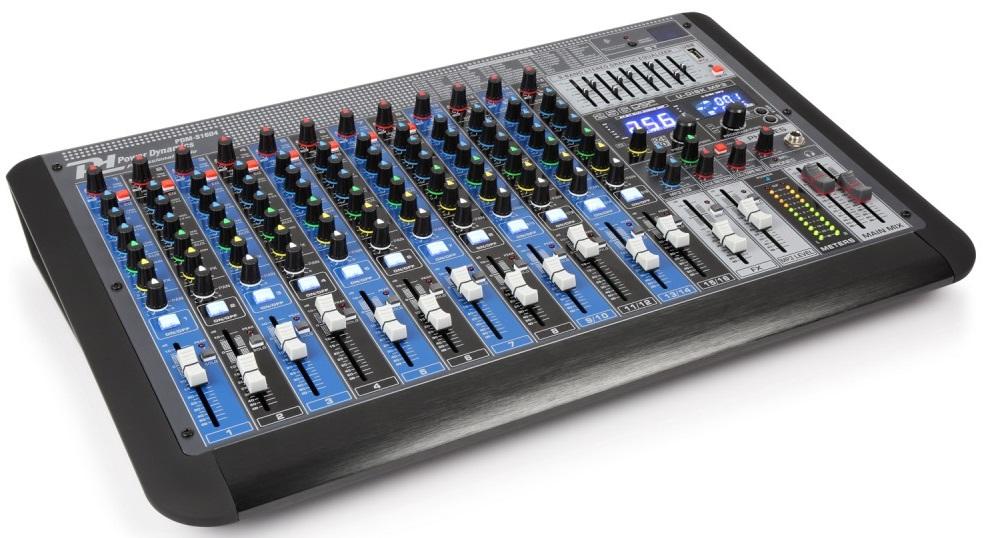 Mesa de Mistura Profissional 16 Canais c/ USB/MP3/BLUETOOTH (PDM-S1604) - Power Dynamics