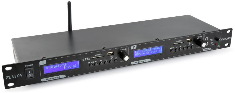 Leitor Duplo MP3/USB/SD/BLUETOOTH c/ Gravação 19 1U (VX2USB) - FENTON